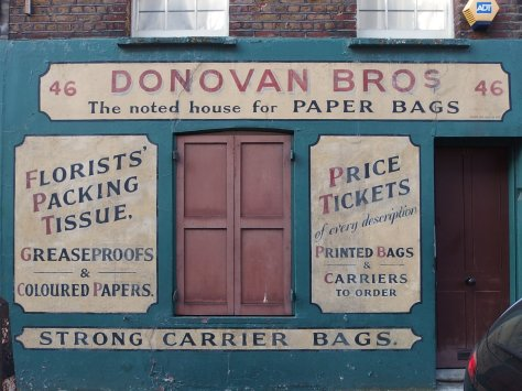 Donovan Brothers paper bagsshop in Spitalfelds, London