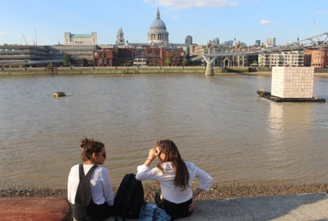 Sitting on the bank of the Thames opposite St Paul's cathedral